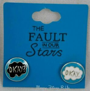 The Fault in Our Stars Okay? Okay Stud Insertion Post Earrings NEW