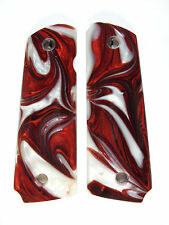 Red & White Pearl 1911 Grips Colt Kimber Remington Sig Taurus Springfield