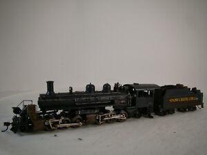 Mantua Logging Steam Locomotive - custom weathered - HO scale