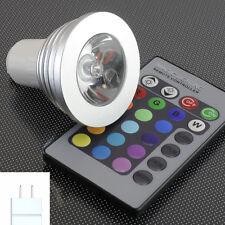 A012 faretto spot LED RGB attacco MR16 12V 3W con telecomando
