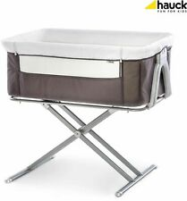 Hauck Face To Me Bedside Baby Crib Travel Bassinet Cradle Cot Moses Basket Grey