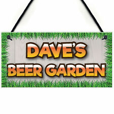 Personalised Beer Garden Alcohol Man Cave Gift Hanging Plaque Home Bar Pub Sign