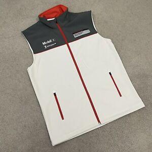 Porsche Design Driver's Selection Vest, Men's Large Grey White Red