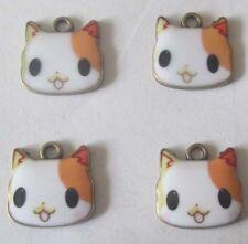 Hot sell ! 4PCS cat Pendant beaded Jewelry DIY Findings 17x17mm DDD8098