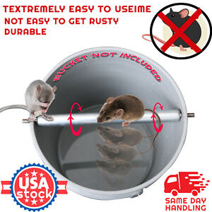 Stainless Steel Mice Rats Mouse killer Roll Trap log Grasp Bucket Rolling Roller