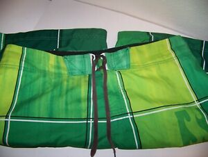 Billabong Mens Swim Trunks Size 38 Green Hook and Loop Closure