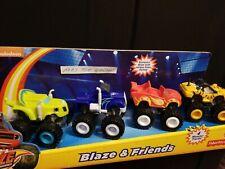 New Nickelodeon Blaze & the Monster Machines 4 Trucks Set Zeg Crusher Stripes