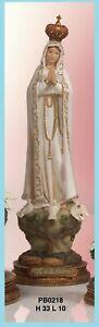 Immagini Statue Sacre Madonna Di Fatima h 33 cm In Resina Paben