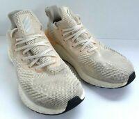 Adidas Men's AlphaBoost Ecru Tint Glow Orange White Running Shoes Size 10 G28565