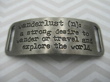 Inspirational Bracelet Connector Text - Wanderlust Travel Explore the World