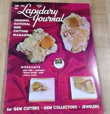 Lapidary Journal Gem Cutting Feb 66 Morganite Opal cutting tips Pink Diamond