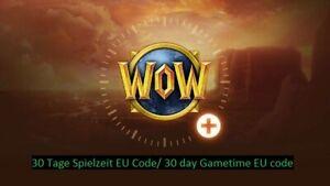 WoW 30 Tage Spielzeit EU Code/World of Warcraft 30 day Gametime/Gamecard EU Code