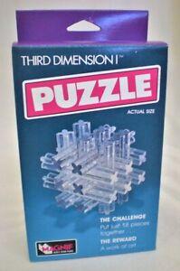 Magnif Third Dimension Puzzle Brain teaser clear NEW