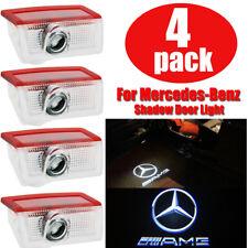 4X LED Luz De Cortesía Puerta Logo Fantasma Sombra Proyector Láser Para Mercedes Benz