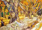 "Vincent Van Gogh *FRAMED* CANVAS ART Large trees 16""X 12"""