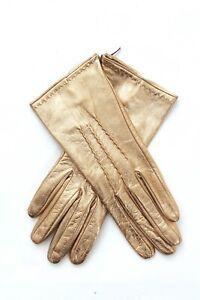 Ermanno Scervino Metallic Leather Gloves / Brown