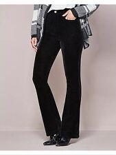 Bnwt🌹Next🌹Size 10 Reg Black Bootcut Velvet Cord Trousers Office Work Day New