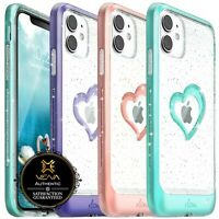 For iPhone 11 Pro Max XR XS Max Clear Case 【vLove♡】Glitter Cute Shockproof Cover