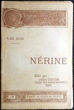 Paul Johann Ludwig Heyse, Nérine, Ed. Henri Gautier, 1891
