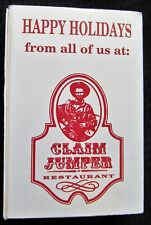 Vintage Claim Jumper Restaurant Happy Holidays 20 NEW Full Boxes of Wood Matches