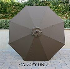 9ft Umbrella Replacement Canopy 8 Ribs in Cocoa (Canopy Only)