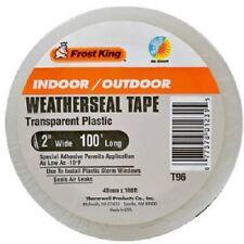 "Thermwell, Frost King, 2"" x 100', Weatherseal Tape, Transparent Plastic, 2 pack"