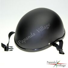 German Half Novelty Motorcycle Helmet Skull Cap Flat For Harley Matte Black Hot