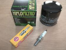 Oil Filter NGK CR7E Spark Plug Tune Up Kit Suzuki Eiger King Quad 400 LTA400F