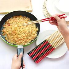 1pair Black Bamboo Chopsticks Healthy Chinese Chopsticks Reusable Sushi GiftGNCA
