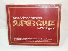 Vintage NEW Isaac Asimov : Super Quiz Board Game by Waddingtons 1982 Edition