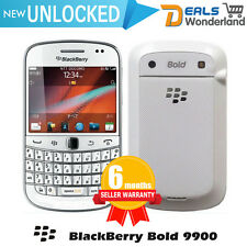 New BlackBerry Bold Touch 9900 Unlocked Qwerty Phone White Free Power Bank Gift