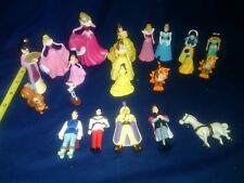 disney princess and prince cake topper play set toys Mulan, snow white, belle
