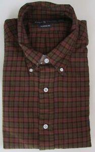 SALE NWT Ralph Lauren Button Down Casual Shirt Long Sleeve Plaid Size M