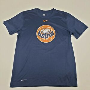 Houston Astros Nike Dri-Fit Cooperstown Collection T Shirt Men's Medium Tee