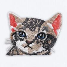 patch  chat , tete de chat , broder et thermocollant , 5.5/6cm