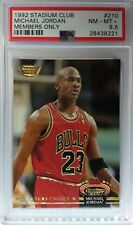 1992 92 Stadium Club Members Only Stamped #210 Michael Jordan, PSA 8.5 NM-Mint +