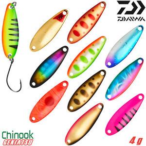Daiwa CHINOOK GEKIATSU 4 g Trout Spoon Assorted Colors