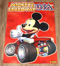 N64 2000 Mickey's Speedway USA Very Rare Poster 56x40cm Nintendo 64 Game Boy