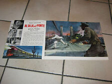 brochure 1957 Across the Bridge,Al di là del ponte ,Annakin.Rod Steiger