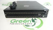 Dell Force10 Z9000 AC K9N70 32-Port 40G QSFP+ Ports 1x Z900-PWR-AC-R 4x Fans