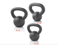 Weider Kettlebell, Tone Muscles Calorie Burn Workout Fitness Home Gym Exercise