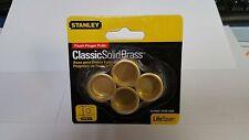 """Stanley 3/4"""" Brass Flush Finger Pulls 4 Pack Passage door handle"""
