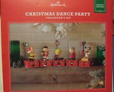 Hallmark 2017 PEANUTS Gang Christmas Dance Party Collector's Set