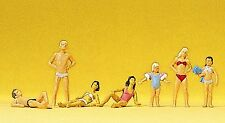 Preiser 10308 H0, Kinder und Jugendliche im Schwimmbad, 7 Figuren, handbemalt