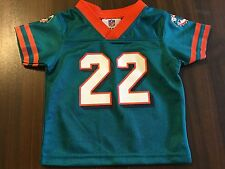 MIAMI DOLPHINS NFL # 22 REGGIE BUSH FOOTBALL JERSEY KID'S 0 / 3 MONTHS