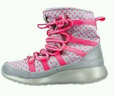 cc457e191e9c Nike Rosherun Hi Sneakerboot FLASH GS Big Kids Girls Gray   Pink  688541 001   85