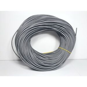 2.0mm Grey PVC sleeving 100m - 0.5mm wall thickness - RoHS compliant