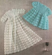 Crochet Pattern Babies Dress/Gown, Short and Long Options. 3Ply.