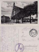 Kamenz Kamjenc Postamt und Wendische Kirche Ansichtskarte Oberlausitz  1942