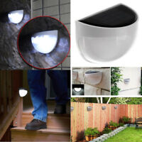 Solar Powered LED Wall Lights Outdoor/Indoor Garden Fence Night Light Lamp White